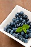 碗蓝莓 免版税库存照片
