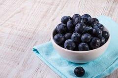 碗蓝莓 图库摄影