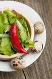 碗蔬菜沙拉 免版税库存图片