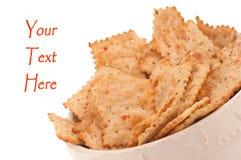 碗薄脆饼干健康蔬菜 库存照片