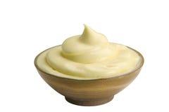 碗蛋黄酱 库存图片