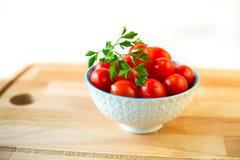 碗西红柿 免版税库存图片