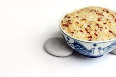 碗谷物混杂的米 库存图片