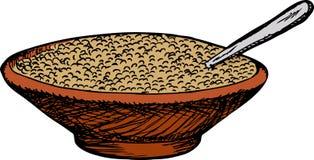 碗谷物 库存图片