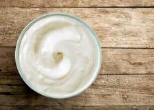 碗酸奶 免版税库存图片