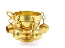 碗铜打孔机 库存照片