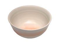 碗陶瓷裁减路线 图库摄影