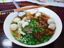 碗面条在泰国餐馆 免版税库存图片
