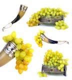 碗饮用的果子葡萄垫铁 免版税库存照片