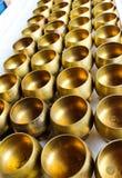 碗黄铜 库存图片