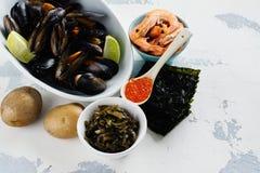 碘的食物富有 图库摄影