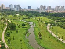 碧山Ang Mo Kio公园,新加坡 免版税图库摄影