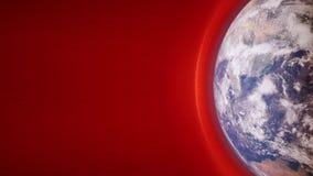 碰撞与地球` s磁场的太阳风的动画 向量例证