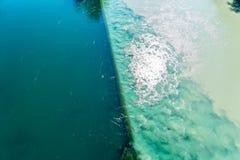 碰撞的河在日内瓦 免版税库存照片