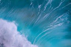 碰撞的波浪细节  免版税库存图片