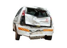 碰撞-一辆共计的斜背式的汽车 免版税库存照片