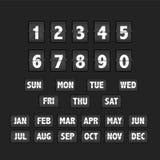 轻碰时钟日历 库存图片