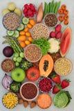 碱性健康食品取样器 免版税库存图片