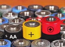 碱性电池 免版税库存照片