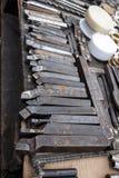 碳化物被打翻的工具 图库摄影
