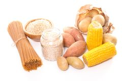 碳水化合物的食物富有 库存照片