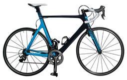 碳种族路自行车 免版税库存照片