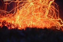 碳精刷的爆炸 免版税库存照片