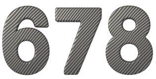 碳纤维字体6 7 8个数字 库存图片