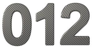 碳纤维字体0 1被隔绝的2个数字 免版税库存图片