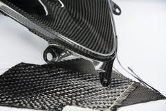 碳纤维合成材料背景 免版税库存图片