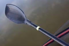 碳纤维赛跑翼的皮船桨 库存照片