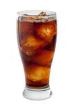 碳酸钠可乐查出与裁减路线 免版税库存图片