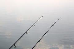 碳钓鱼竿 免版税库存图片