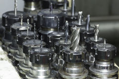 碾碎的工具CNC 免版税库存图片
