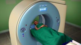 磁反应想象扫描(MRI扫描) 免版税图库摄影