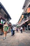 磁器口古老shophouses城市在重庆,中国 库存图片