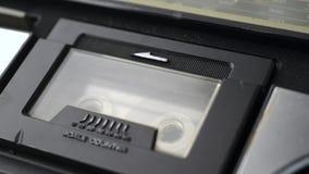 磁带录音机仓使用 股票录像