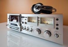 磁带录音机仓球员记录员立体声磁带 免版税库存照片