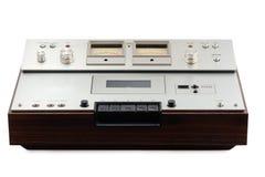 磁带录音机仓老立体音响 免版税库存照片