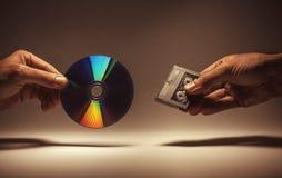 磁带或光盘 免版税库存照片
