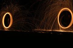 磁性圆环火运动 库存图片