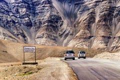 磁性小山, leh,拉达克,查谟和克什米尔,印度 免版税库存照片