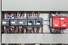 磁性接触器和安全中转 免版税库存图片