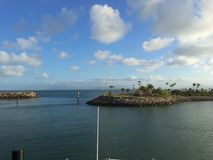 磁性海岛小船视图 库存图片