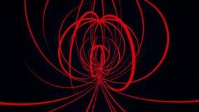 磁性线抽象背景  流线在磁场行动背景中 向量例证