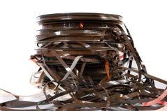 磁性老磁带 免版税库存图片