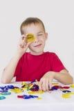 磁性设计师男孩修造。 免版税库存图片