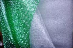 磁泡线厘和泡沫包装的 免版税库存图片