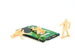 磁盘驱动器坚硬保护战士三玩具 免版税图库摄影