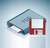 磁盘驱动器磁盘 免版税库存照片